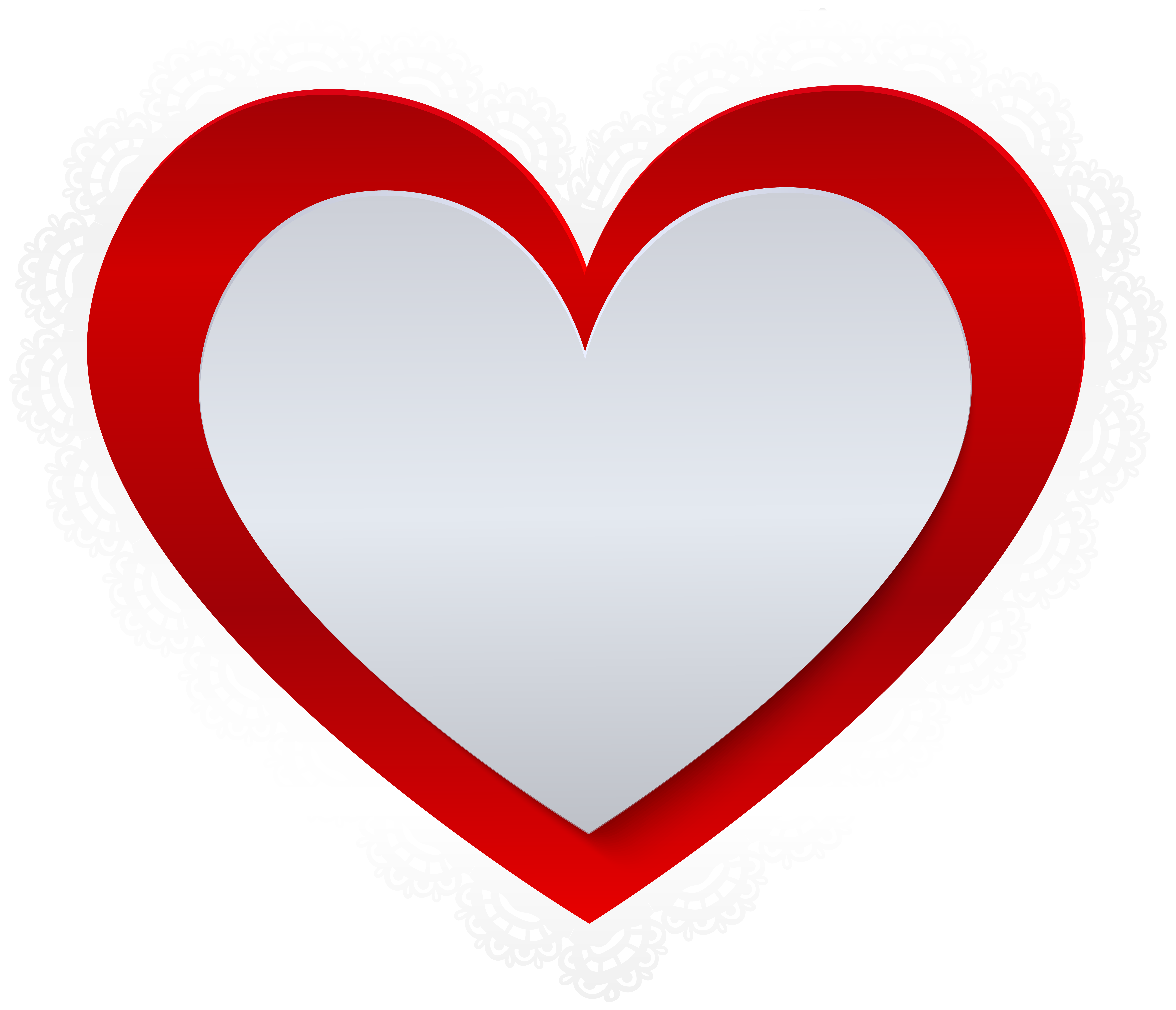 Heart lace clipart graphic transparent library Heart with Lace Border PNG Clip Art | Gallery Yopriceville - High ... graphic transparent library