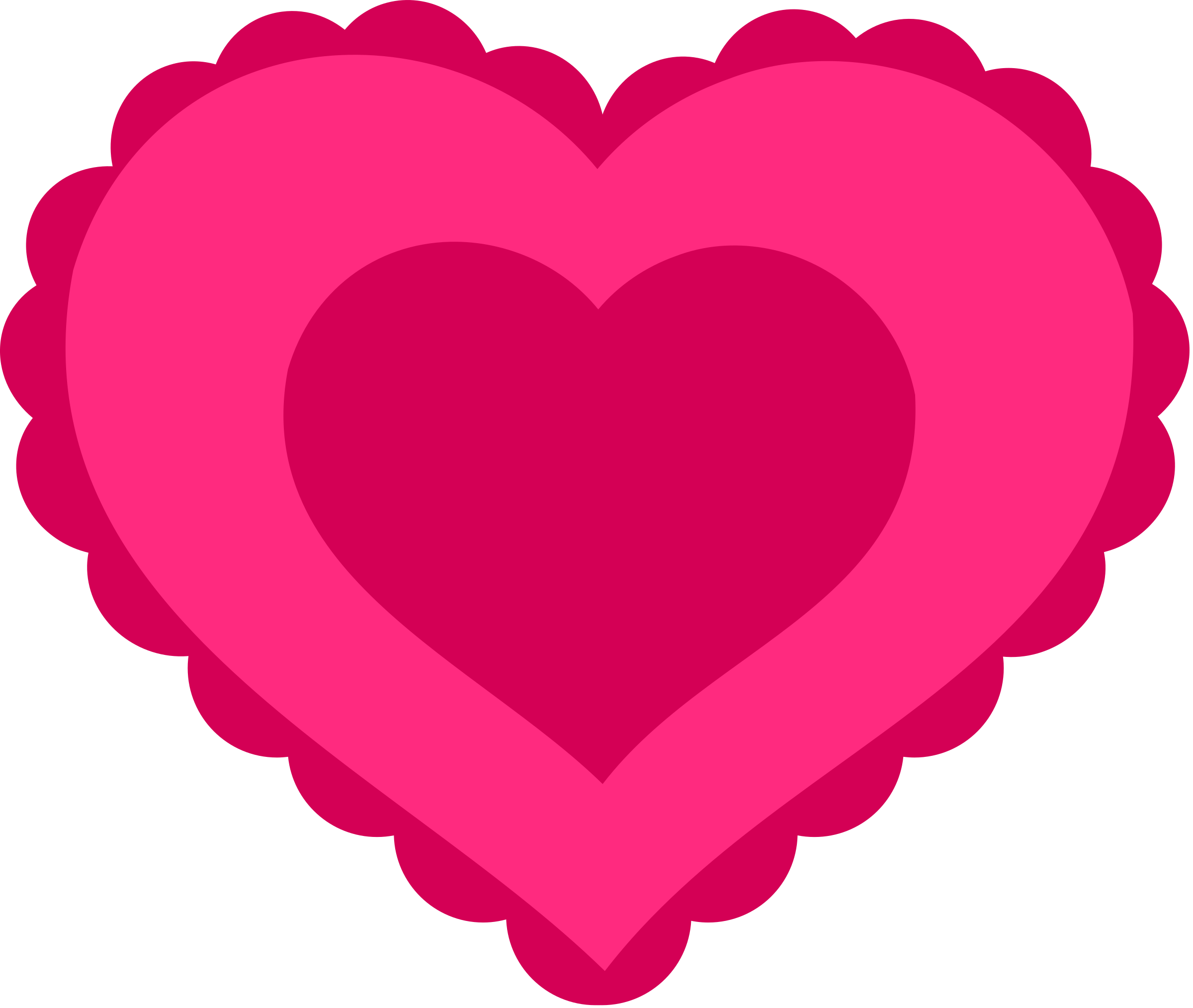 Striped heart clipart stock Clipart - Pink Lace Heart stock
