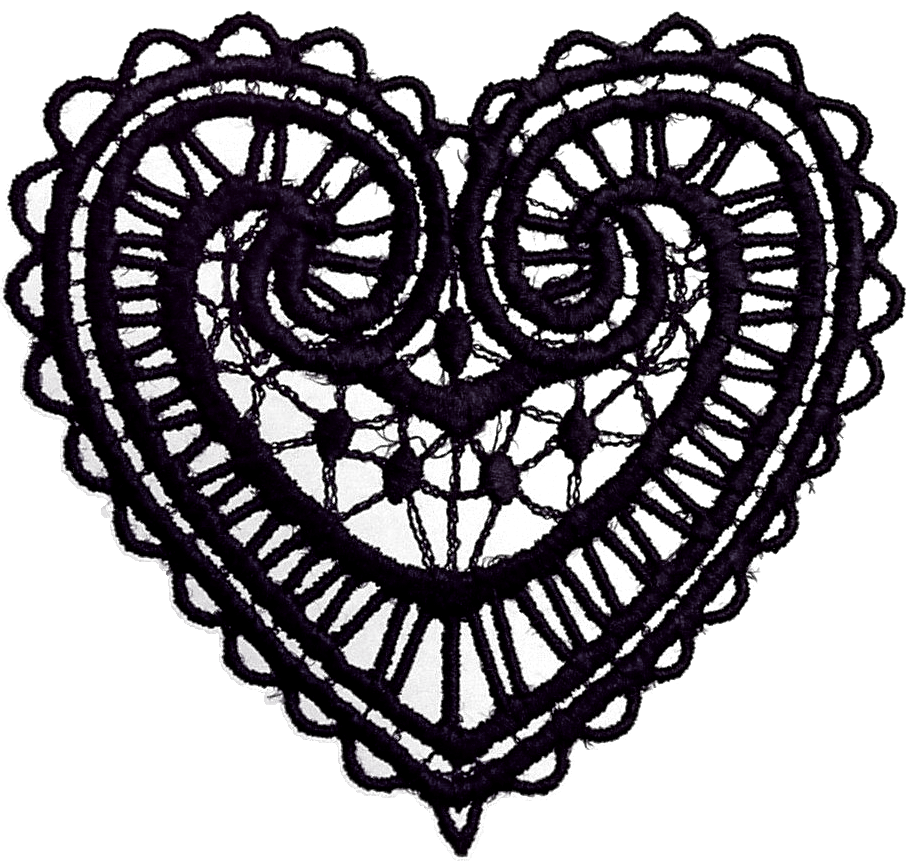 Heart lace clipart png freeuse library Graphic Vector Collection: Dark Lace Heart Ornaments | clip art #2 ... png freeuse library