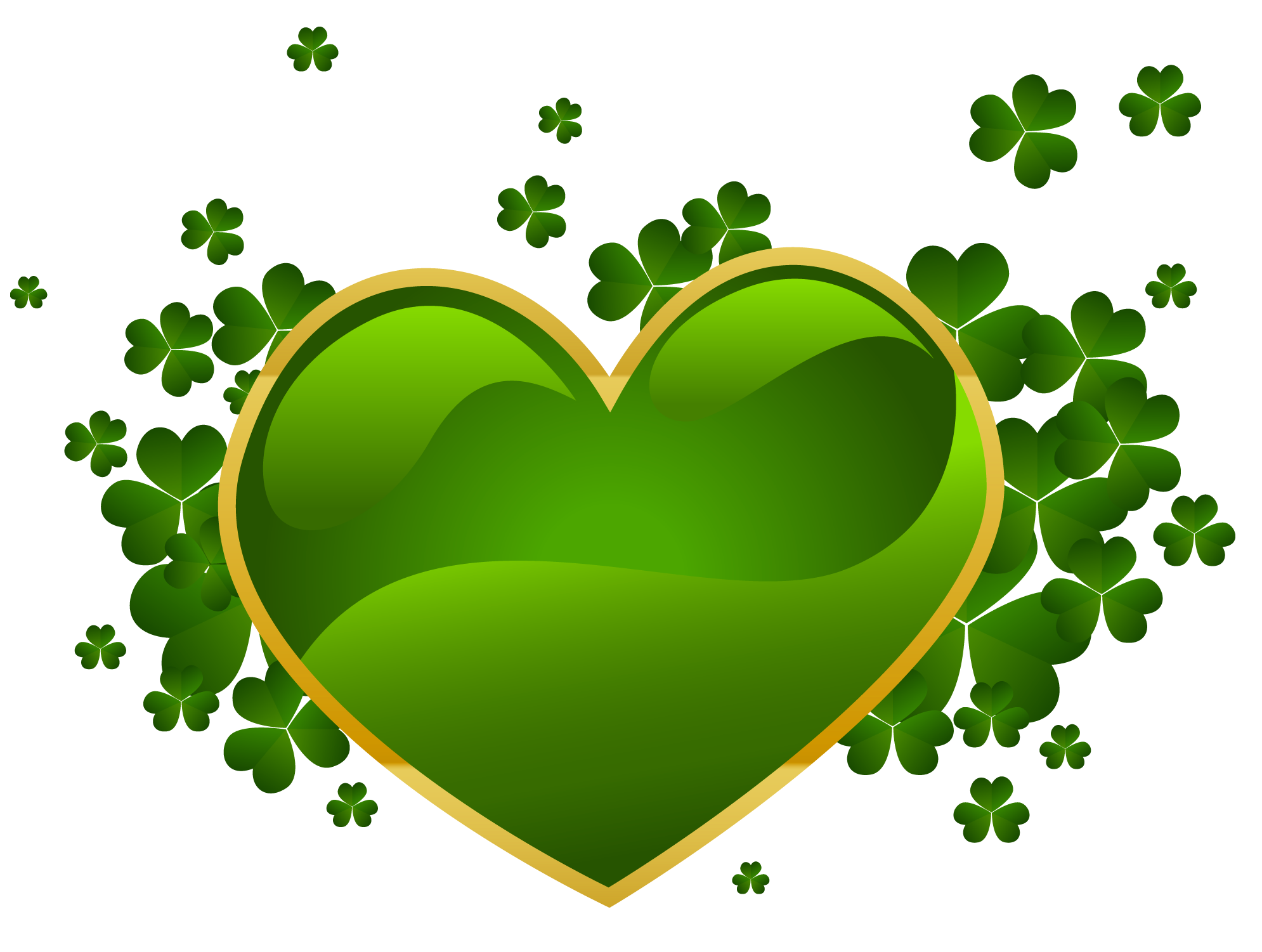 Leaf heart clipart vector library Public Domain Clip Art Shamrocks St Patricks Day Shamrock Clip Art 2 vector library
