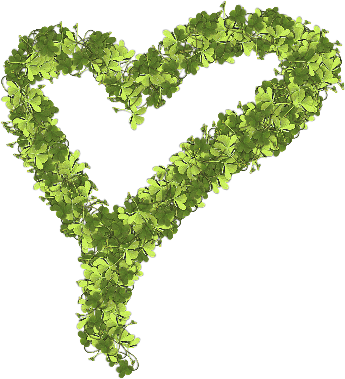 Heart leaf clipart image royalty free library Heart Made Of Shamrocks transparent PNG - StickPNG image royalty free library