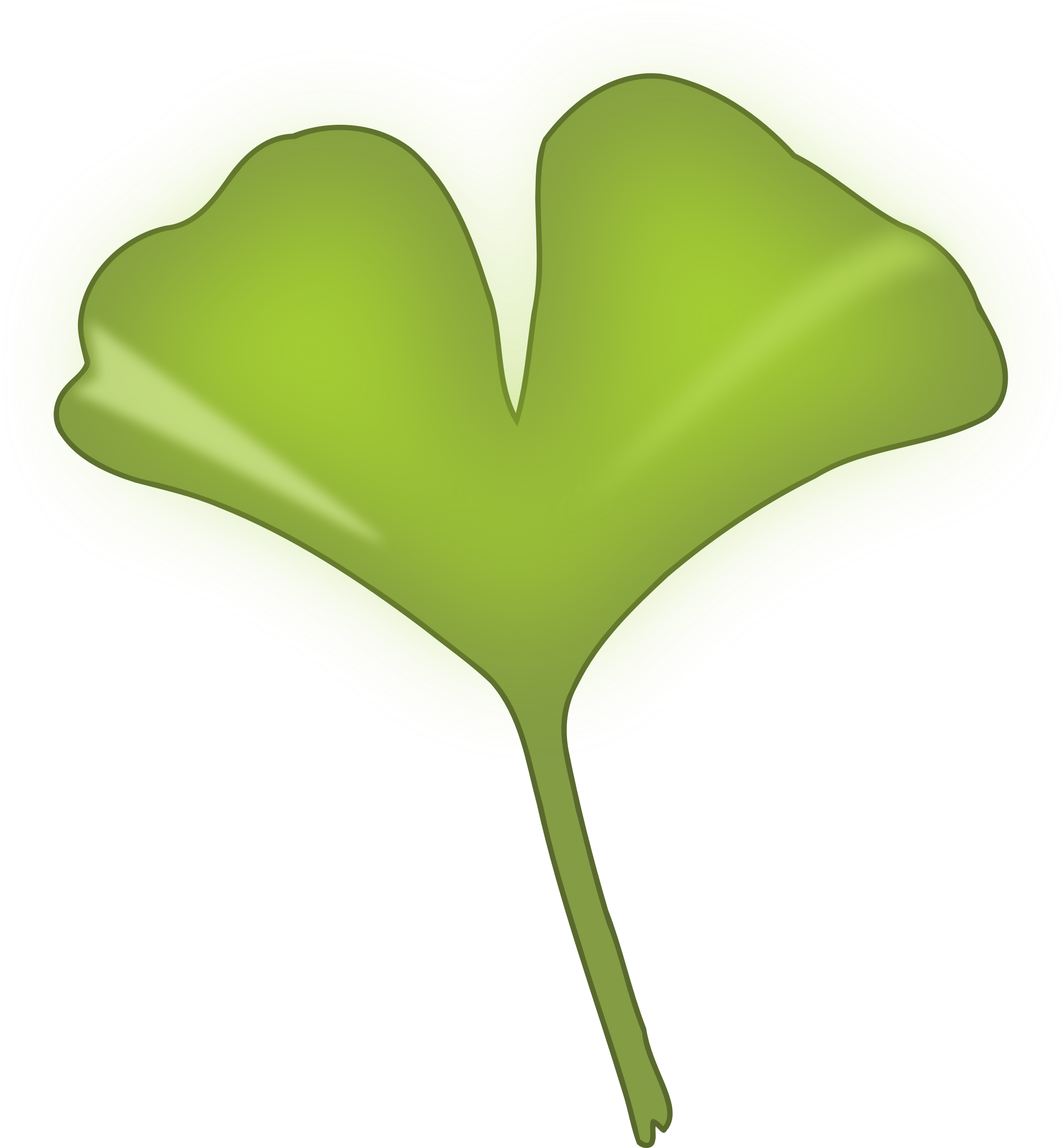 Leaf heart clipart vector freeuse Clipart - ginkgo biloba leaf vector freeuse