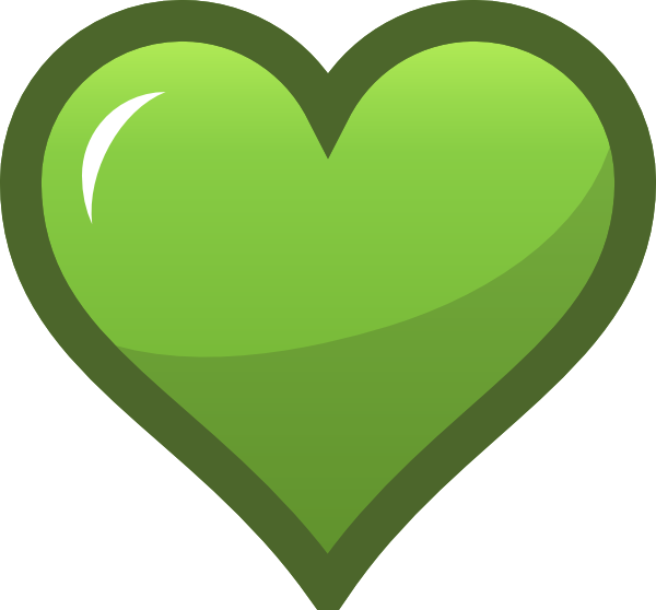 Heart leaf clipart banner free download Green Heart Icon Clip Art at Clker.com - vector clip art online ... banner free download