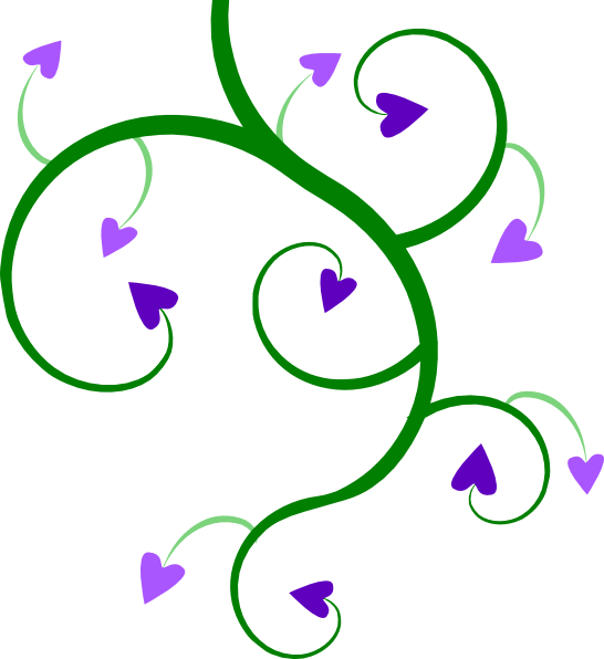 Heart leaves and vines clipart image transparent library Heart Vine Clip Art at Clker.com - vector clip art online, royalty ... image transparent library