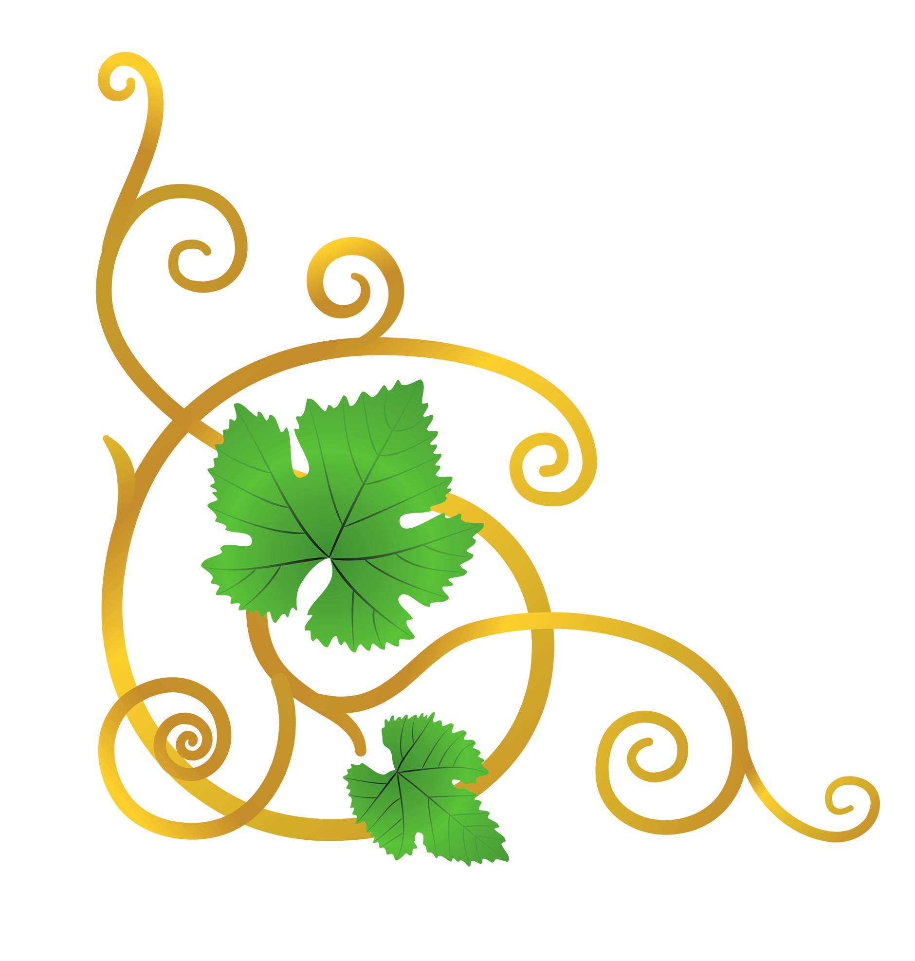 Heart leaves and vines clipart graphic transparent library Transparent Vine Element PNG Clipart Picture | Gallery Yopriceville ... graphic transparent library