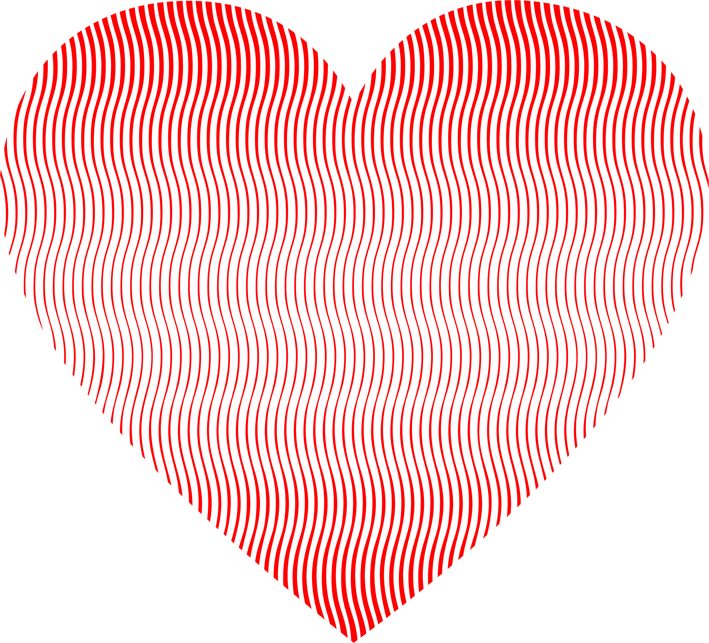 Pattern heart clipart clip free library Clipart - Wavy Heart Line Art clip free library