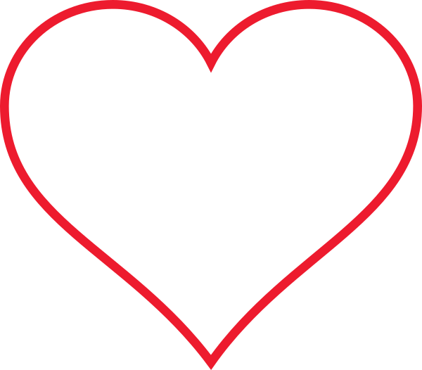 Heart line clipart clipart black and white download Line Art Red Heart Clip Art at Clker.com - vector clip art online ... clipart black and white download