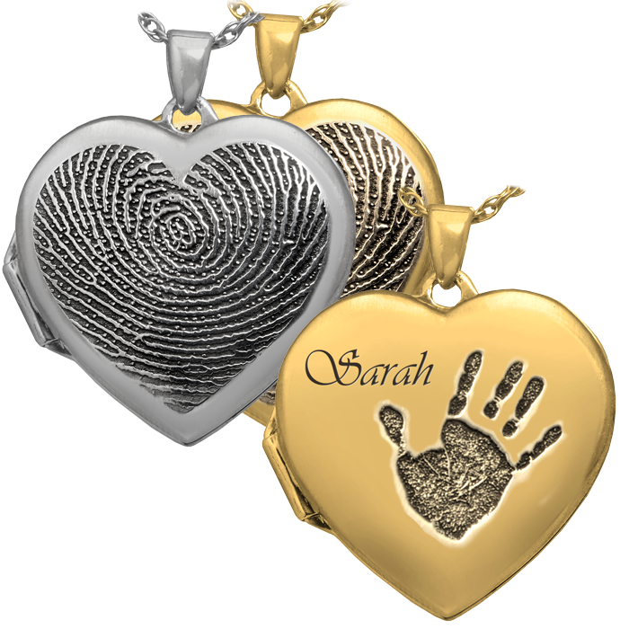 Heart locket clipart image royalty free stock Heart Photo Locket   Fingerprint Memorial Necklace   Memorial Gallery image royalty free stock