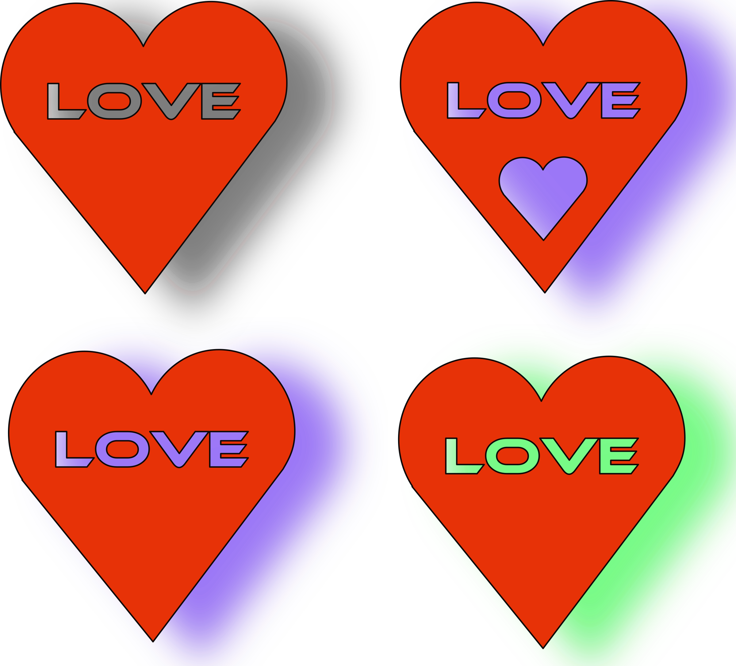 Heart love clipart png library stock Clipart - 4 Love Heart´s png library stock