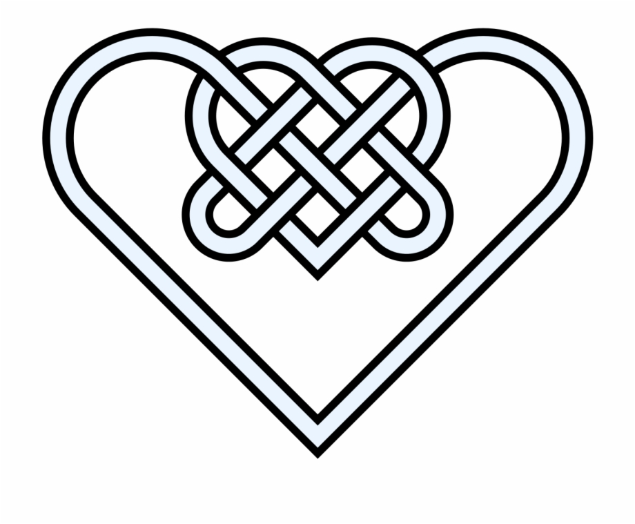 Heart love knot png free clipart vector image royalty free download Double Heart Knot 10crossings - Celtic Knot Love Heart Free ... image royalty free download