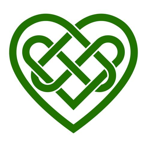 Heart love knot png free clipart vector vector transparent Celtic knot heart vector illustration - Download Free ... vector transparent