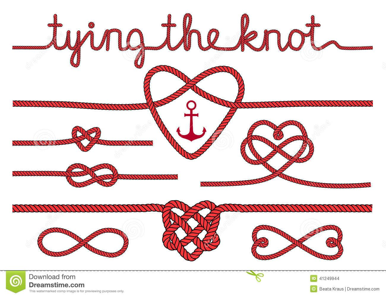 Heart love knot png free clipart vector vector library stock Rope Hearts And Knots, Vector Set - Download From Over 28 ... vector library stock