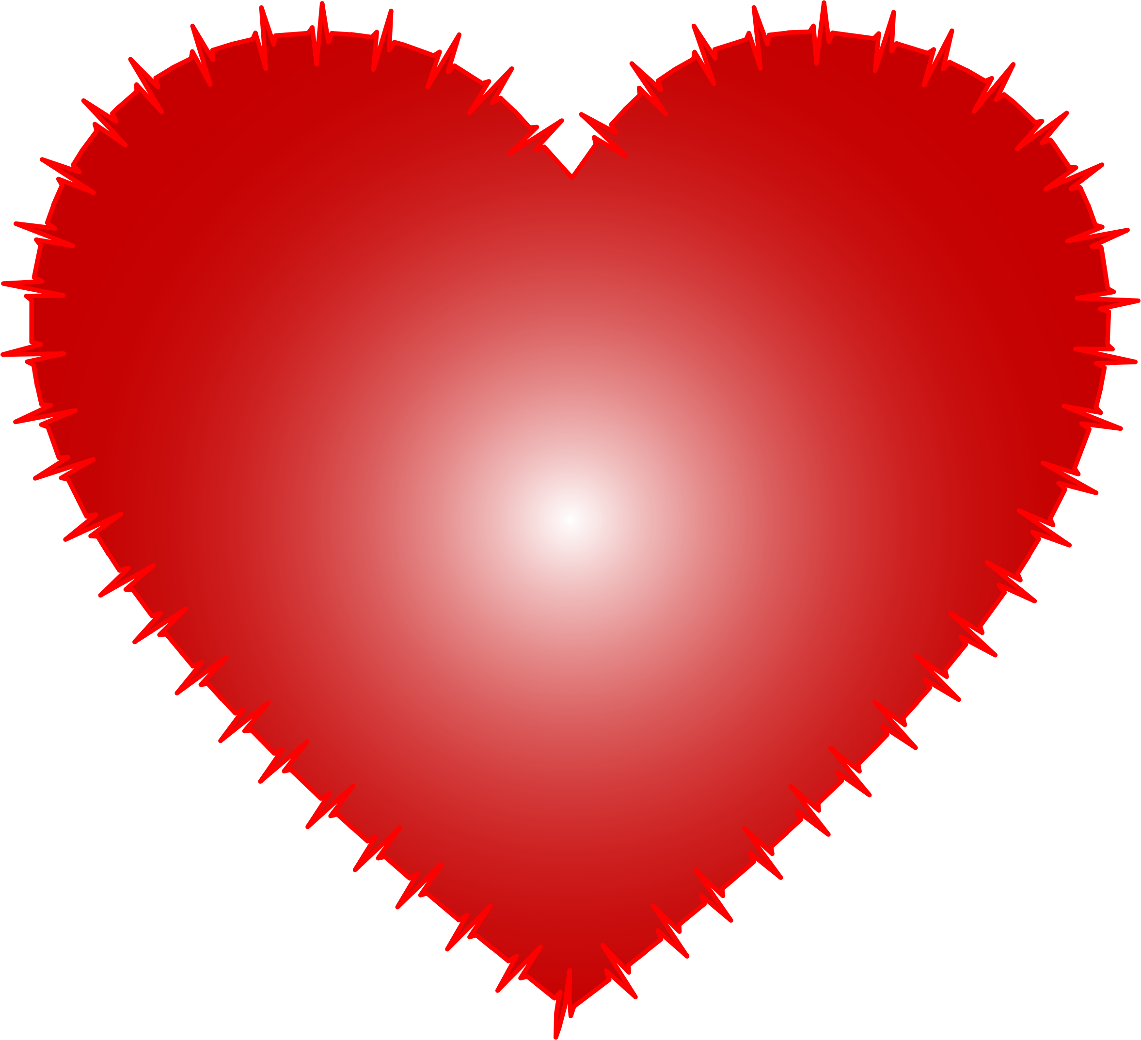 Heart medical clipart free stock Clipart - Heart EKG Rhythm Red free stock