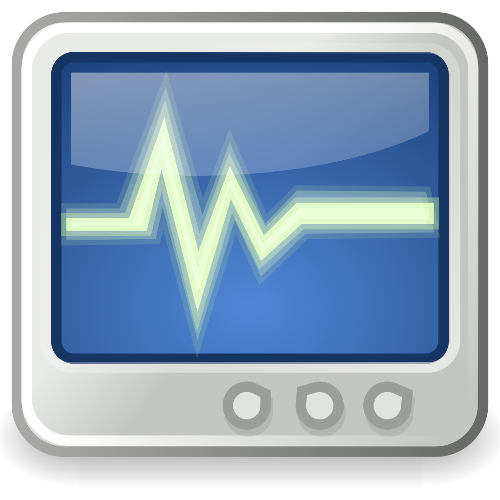Heart monitor clipart clipart black and white download File:Utilities-system-monitor.svg - Wikipedia clipart black and white download