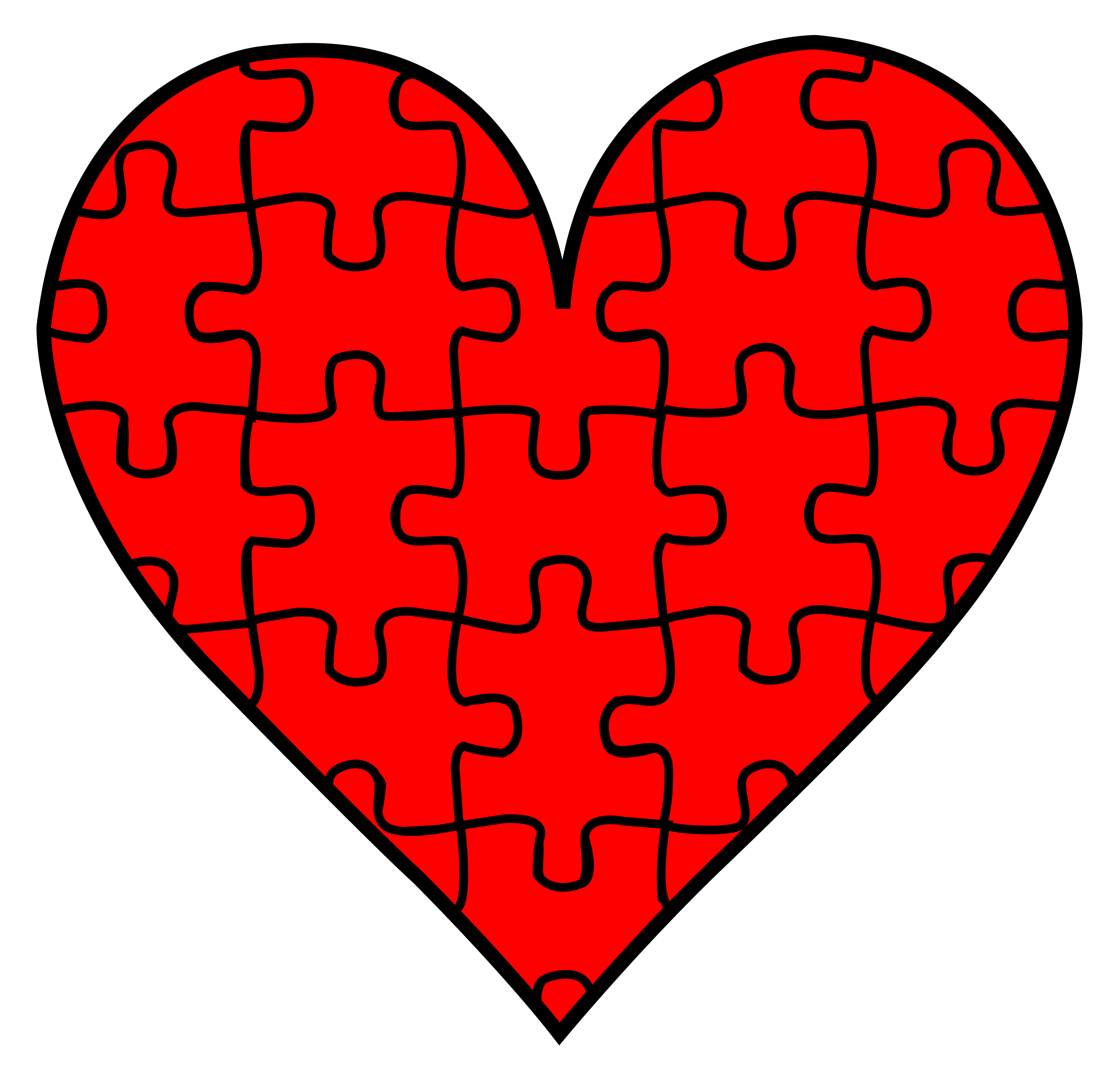 Heart puzzle clipart svg free download Heart Puzzle Piece Clipart svg free download