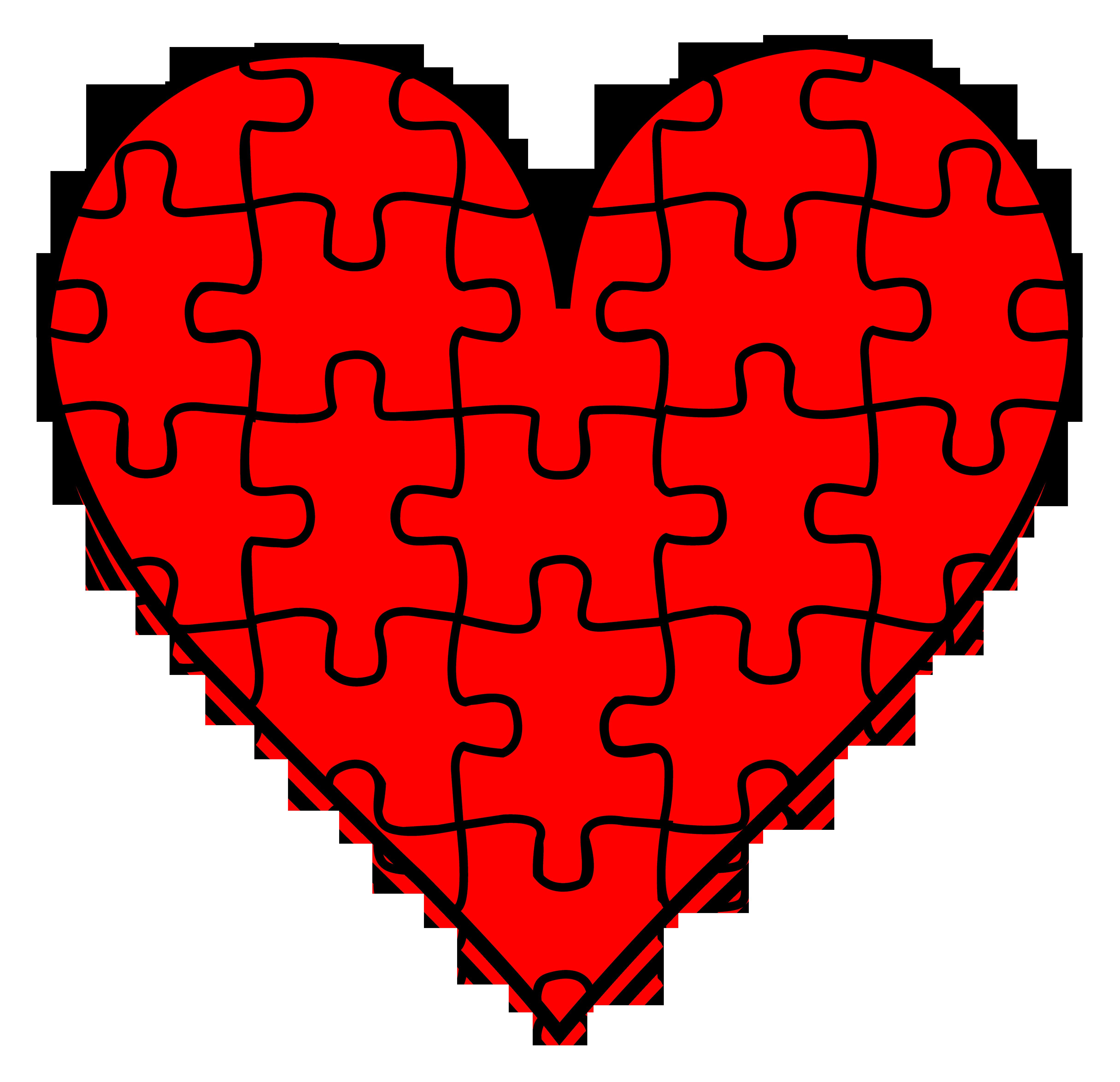 Heart puzzle clipart