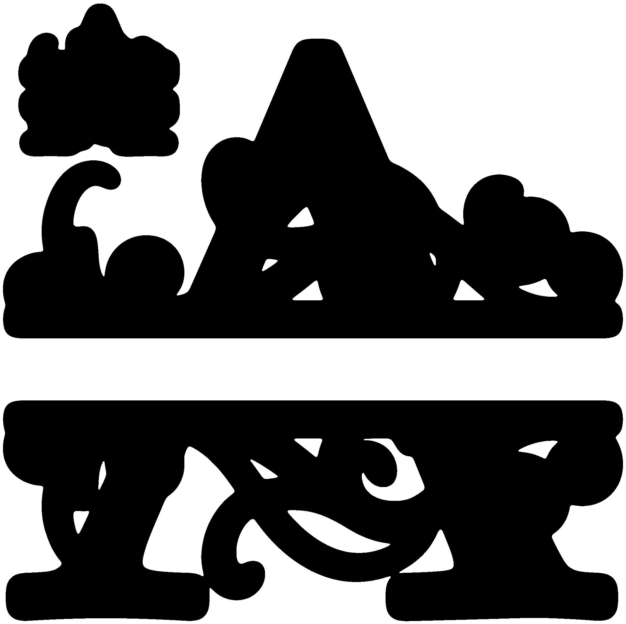 Snowflake monogram clipart picture transparent download A