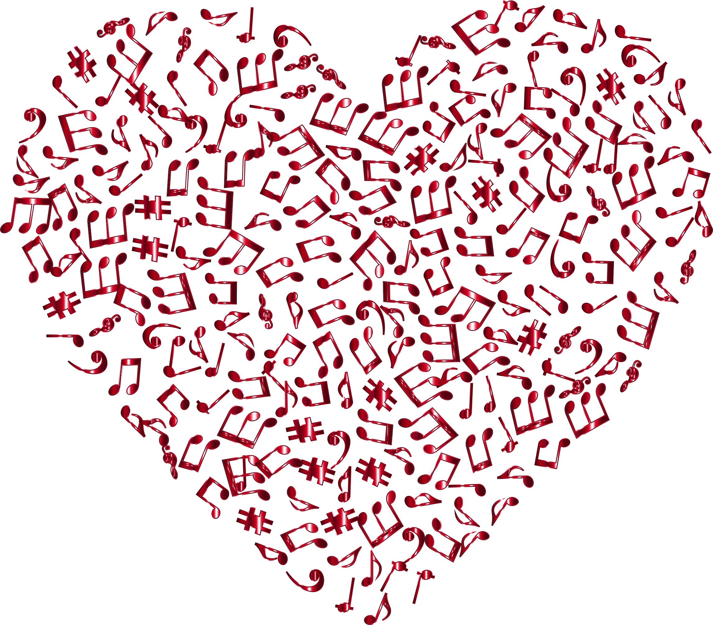 Musical heart clipart image freeuse library Clipart - Crimson Musical Heart 4 No Background image freeuse library
