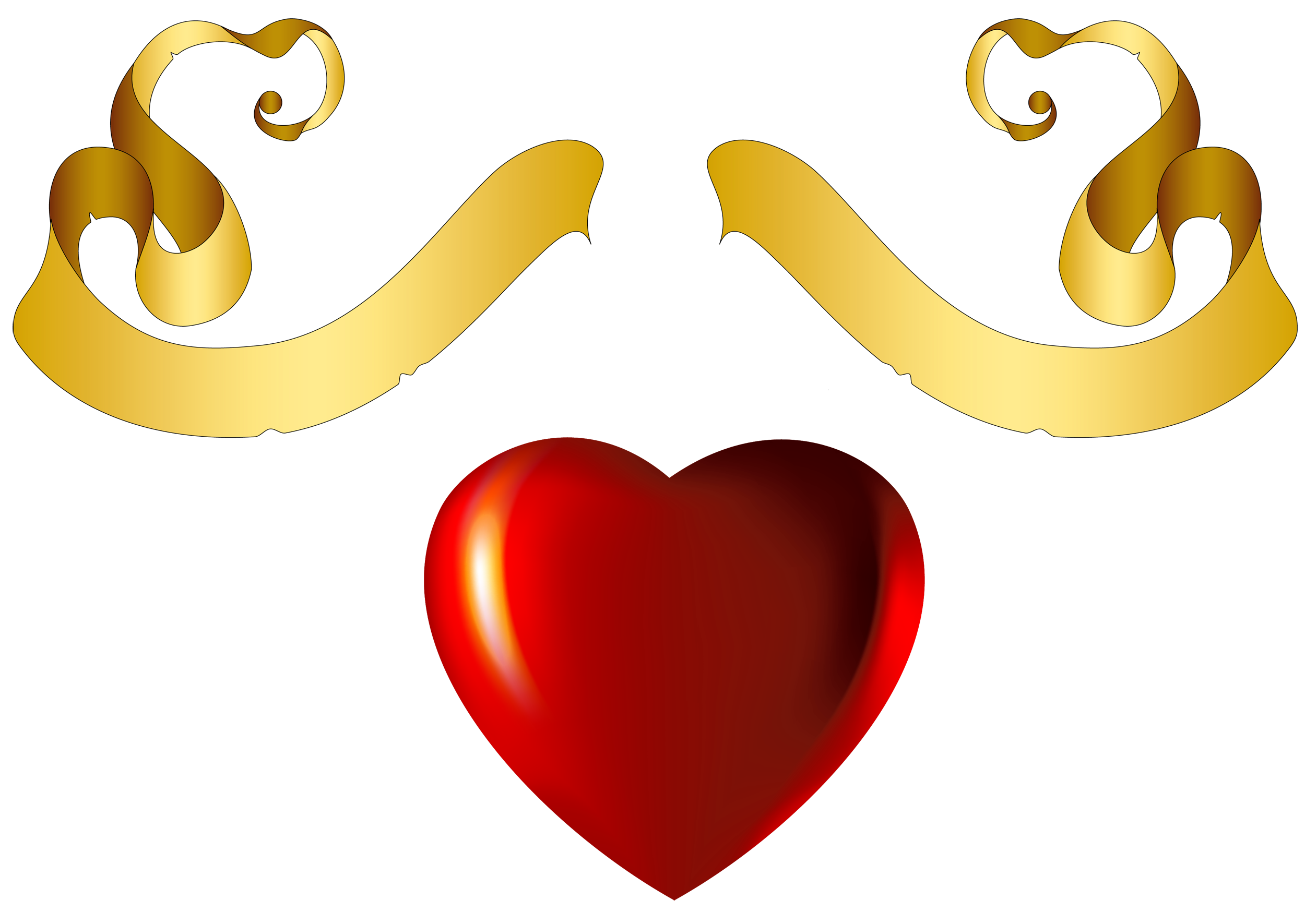 Heart with banner clipart vector stock Heart with Gold Banner Element Clipart | Gallery Yopriceville ... vector stock