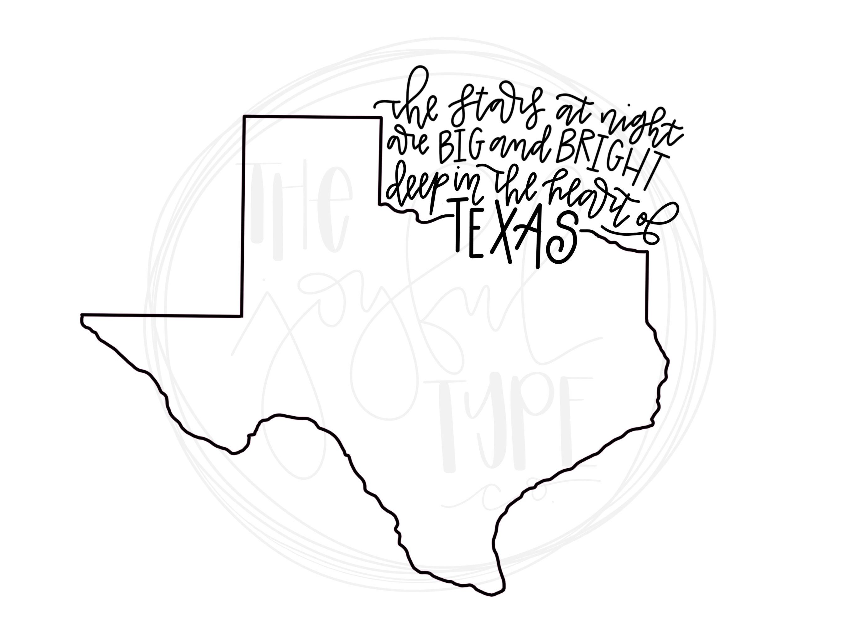 Heart of texas clipart banner royalty free stock Pin by Hillary Pettit on The Joyful Type Co | Silhouette ... banner royalty free stock