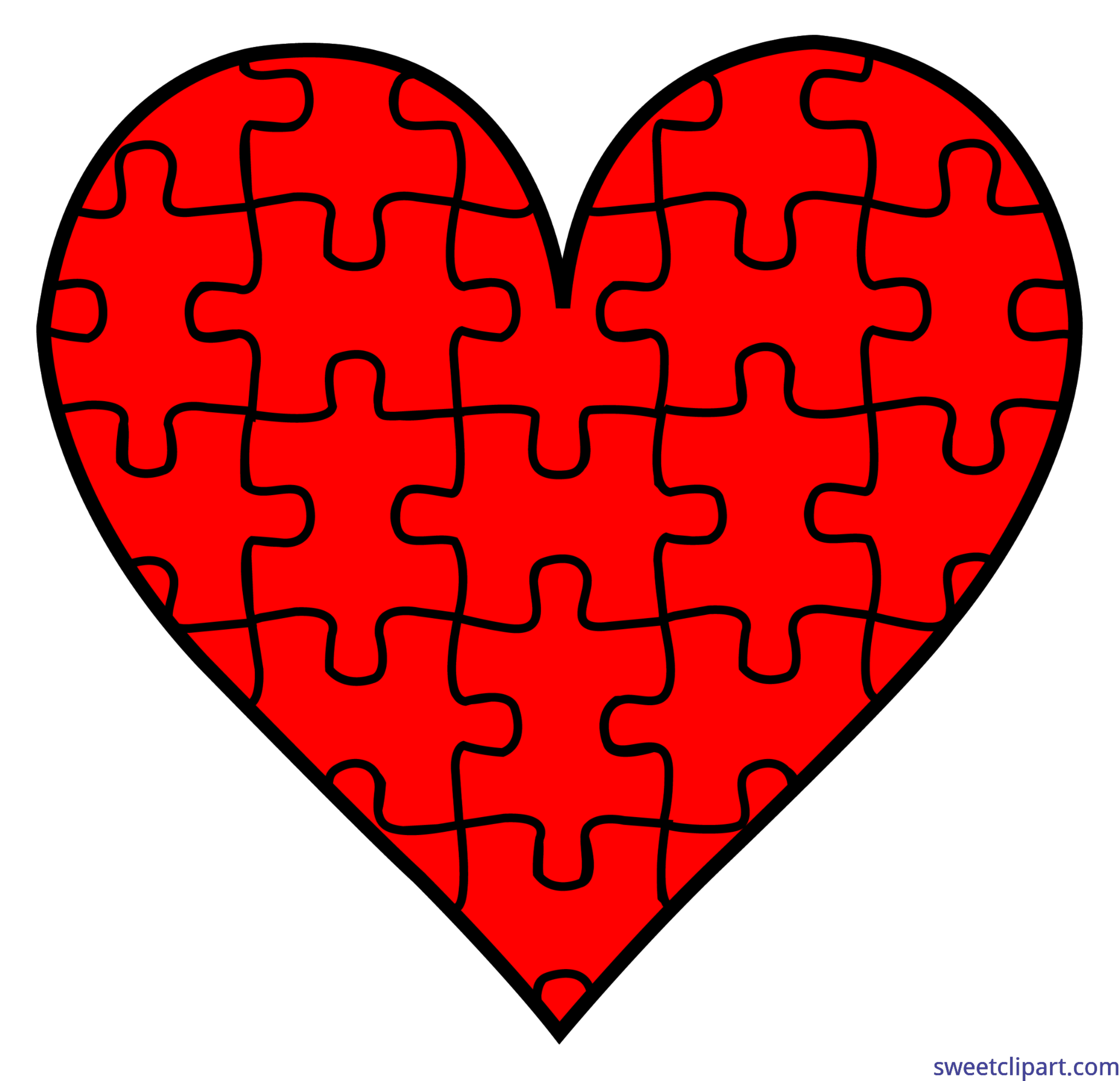 Puzzle heart clipart clip art freeuse library Valentines Symbols Puzzle Heart Clip Art - Sweet Clip Art clip art freeuse library