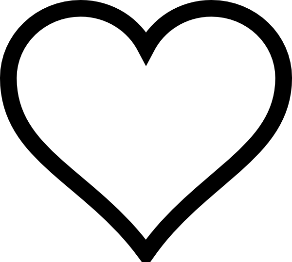 Heart outline clipart clip royalty free download Heart Outline Clip Art at Clker.com - vector clip art online ... clip royalty free download
