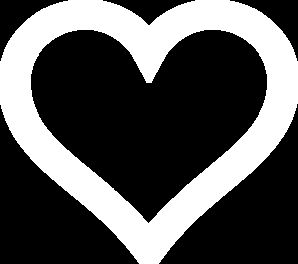 Heart outline clipart multiple sizes graphic black and white download White Heart Outline Newer clip art - vector clip art online ... graphic black and white download