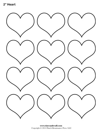 Heart outline clipart multiple sizes clip black and white Blank Heart Templates | Printable Heart Shape PDFs clip black and white