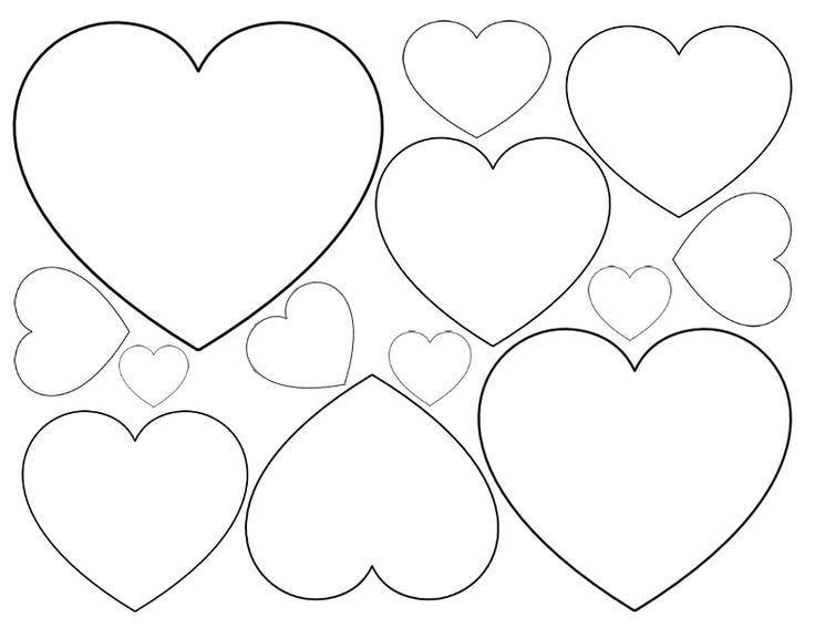 Heart outline clipart multiple sizes jpg transparent stock 17 Best ideas about Heart Template on Pinterest | Heart patterns ... jpg transparent stock