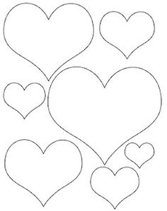 Heart outline clipart multiple sizes clip freeuse Valentine Hearts Clip Art, in sizes ranging from 3/4