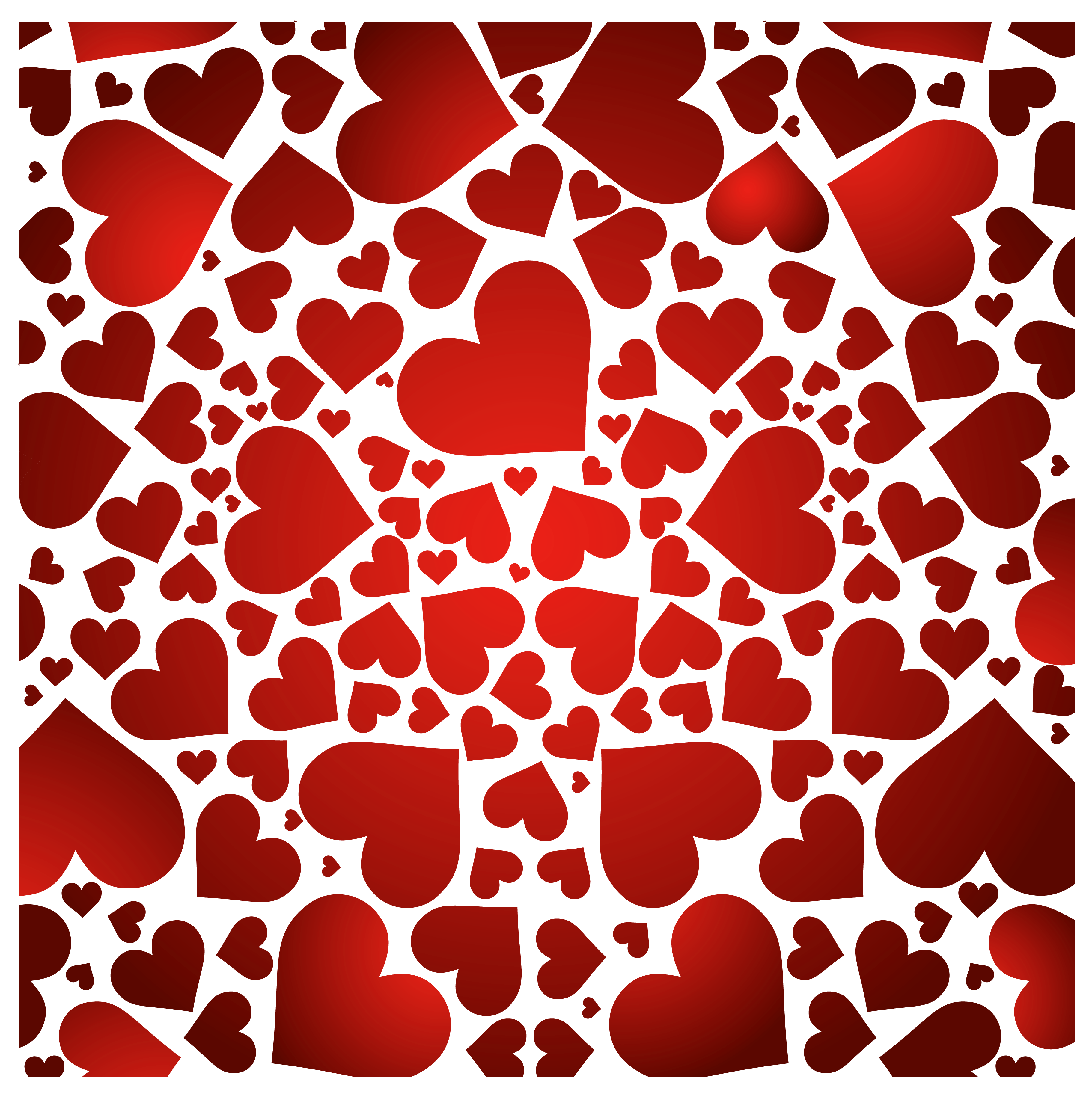 Heart pattern clipart banner Hearts Decor PNG Clipart | Gallery Yopriceville - High-Quality ... banner