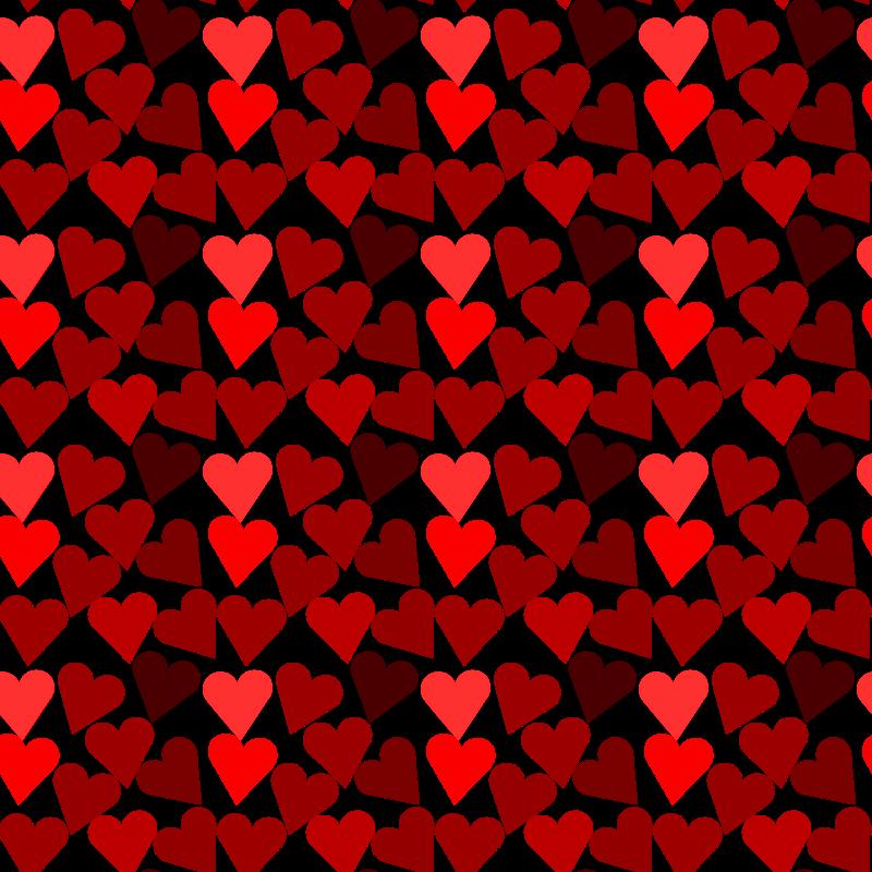 Heart pattern clipart jpg library Clipart - Heart pattern 2 jpg library