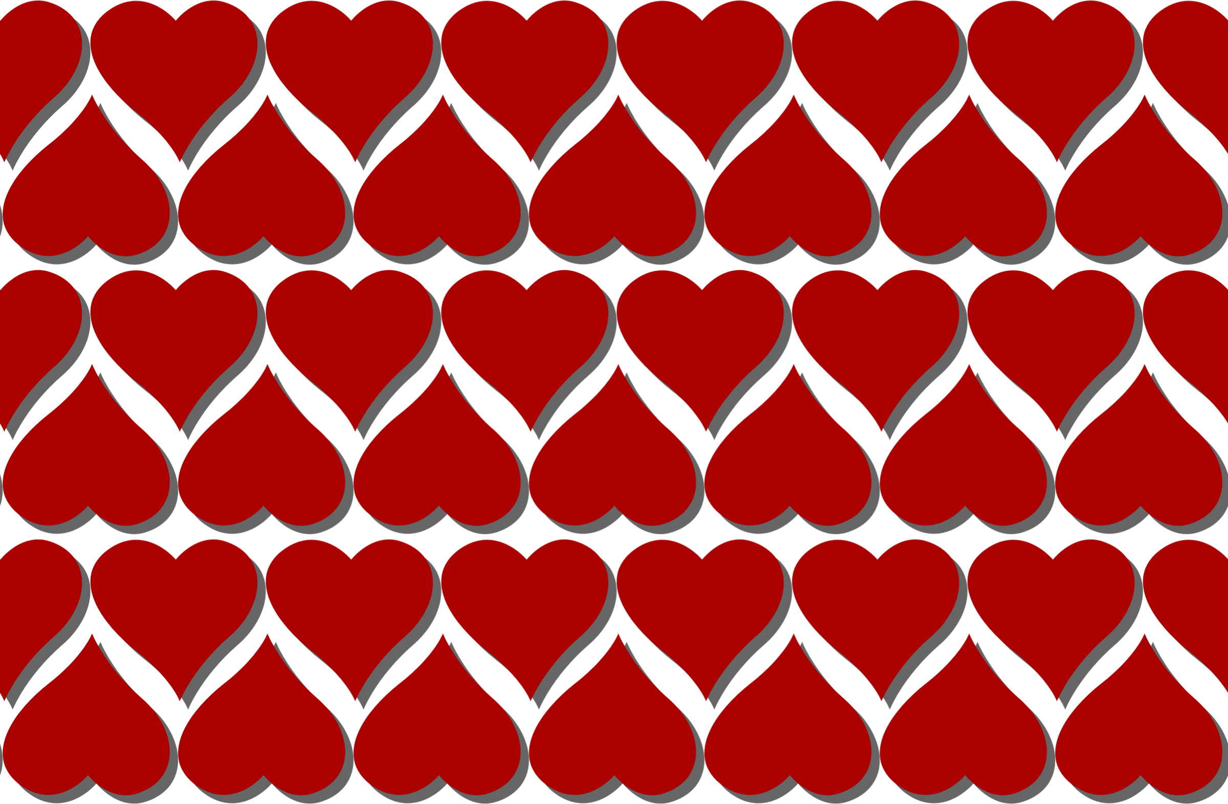 Heart pattern clipart clip black and white stock Clipart - Heart pattern 4 clip black and white stock