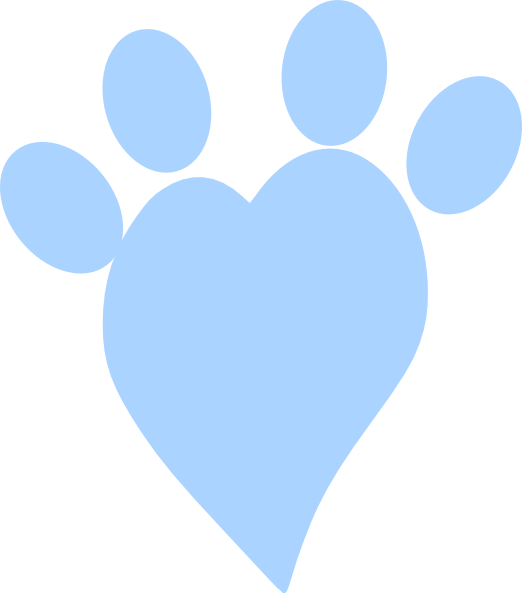 Heart paw print clipart vector freeuse stock Blue Heart Paw Clip Art at Clker.com - vector clip art online ... vector freeuse stock