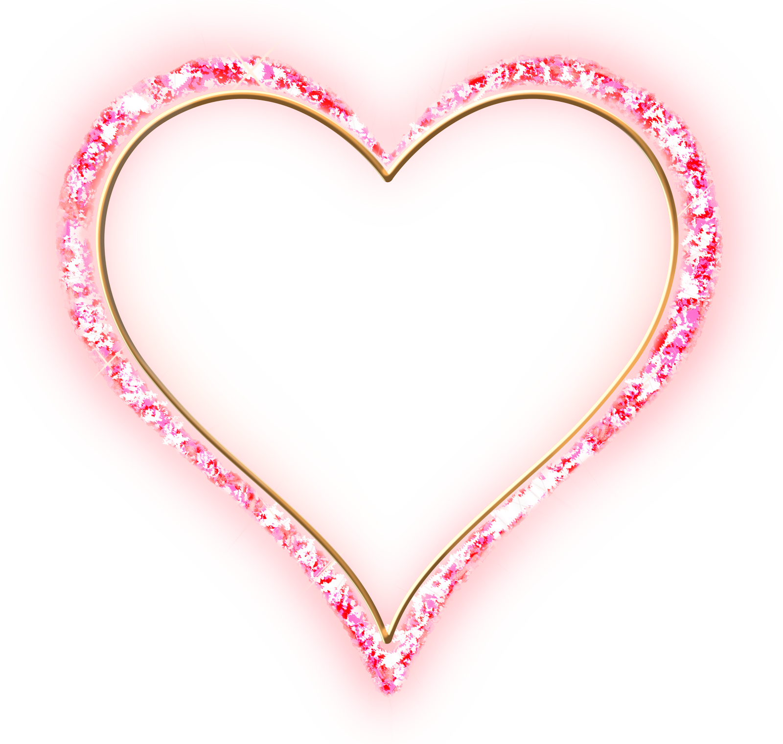 Heart picture frame clipart clip black and white Pink Diamond Transparent Frame Gold Heart | Gallery Yopriceville ... clip black and white