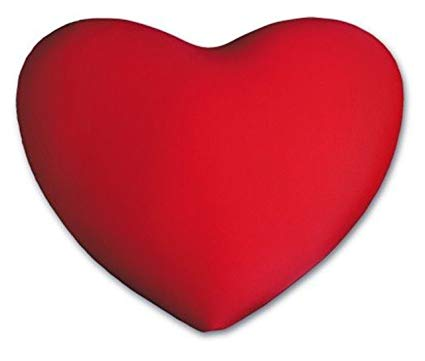 Heart pillow clipart graphic freeuse library Deluxe Comfort HSP-002-10 Micro Bead Squishy Heart-Shaped Pillow-Red graphic freeuse library