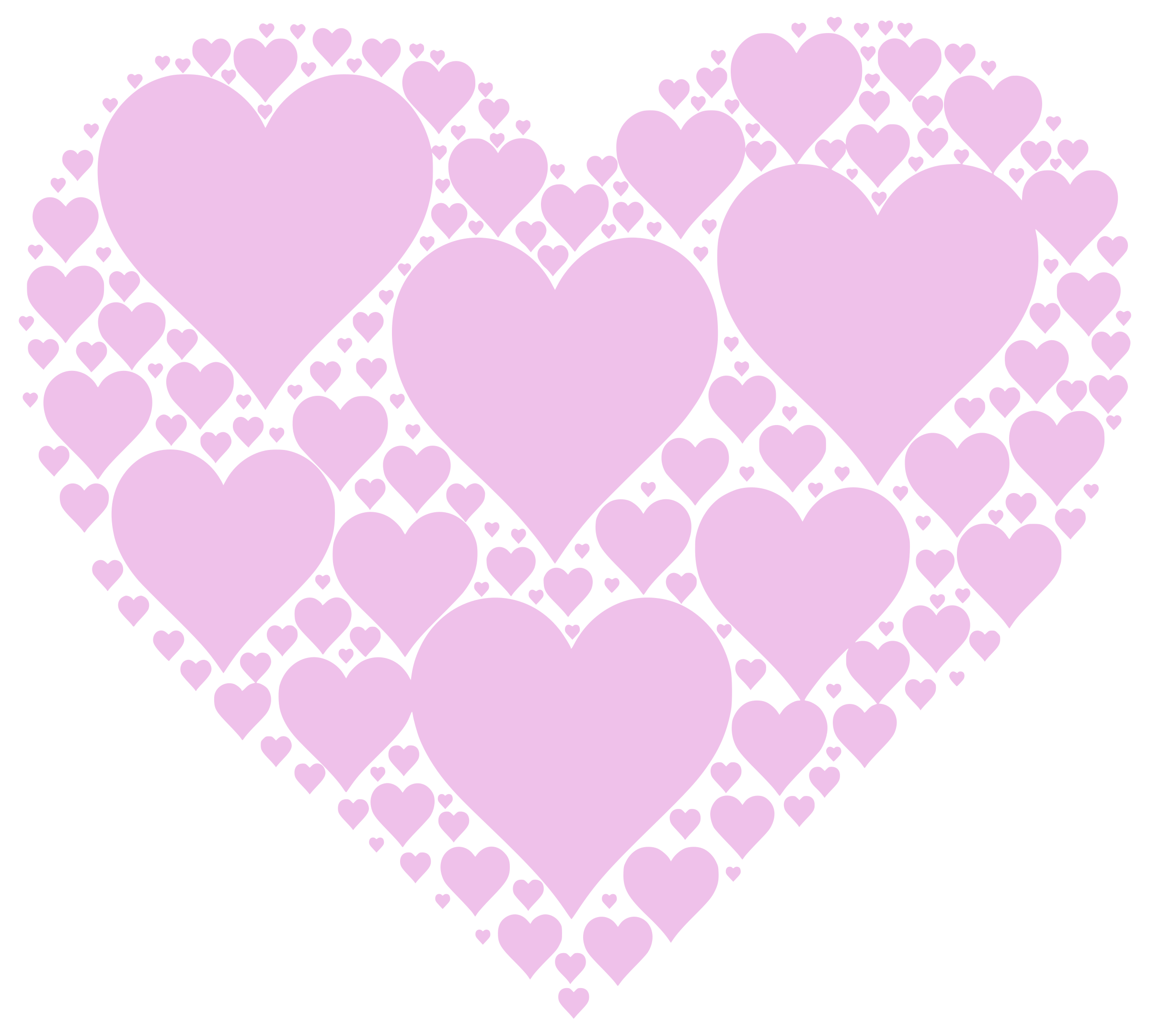 Pink clipart heart jpg freeuse Clipart - Hearts In Heart - Pink jpg freeuse