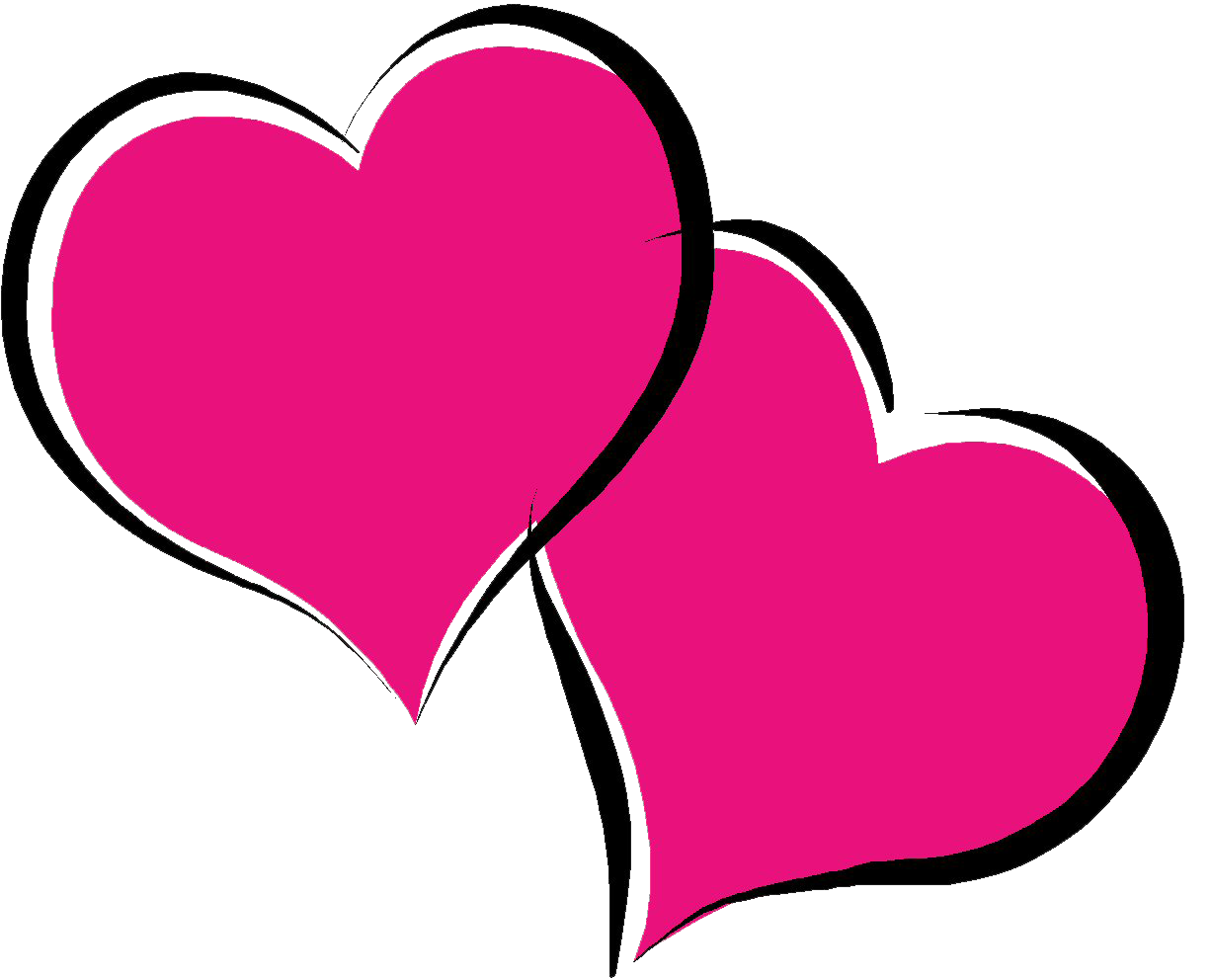 Hot pink heart clipart picture freeuse download Hot Pink Heart PNG Pic picture freeuse download