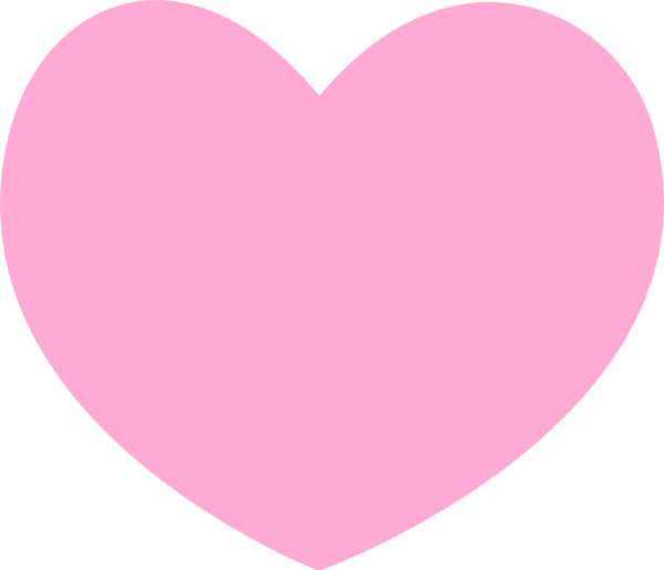 Heart pink clipart picture royalty free download Pink Heart Clip Art at Clker.com - vector clip art online, royalty ... picture royalty free download