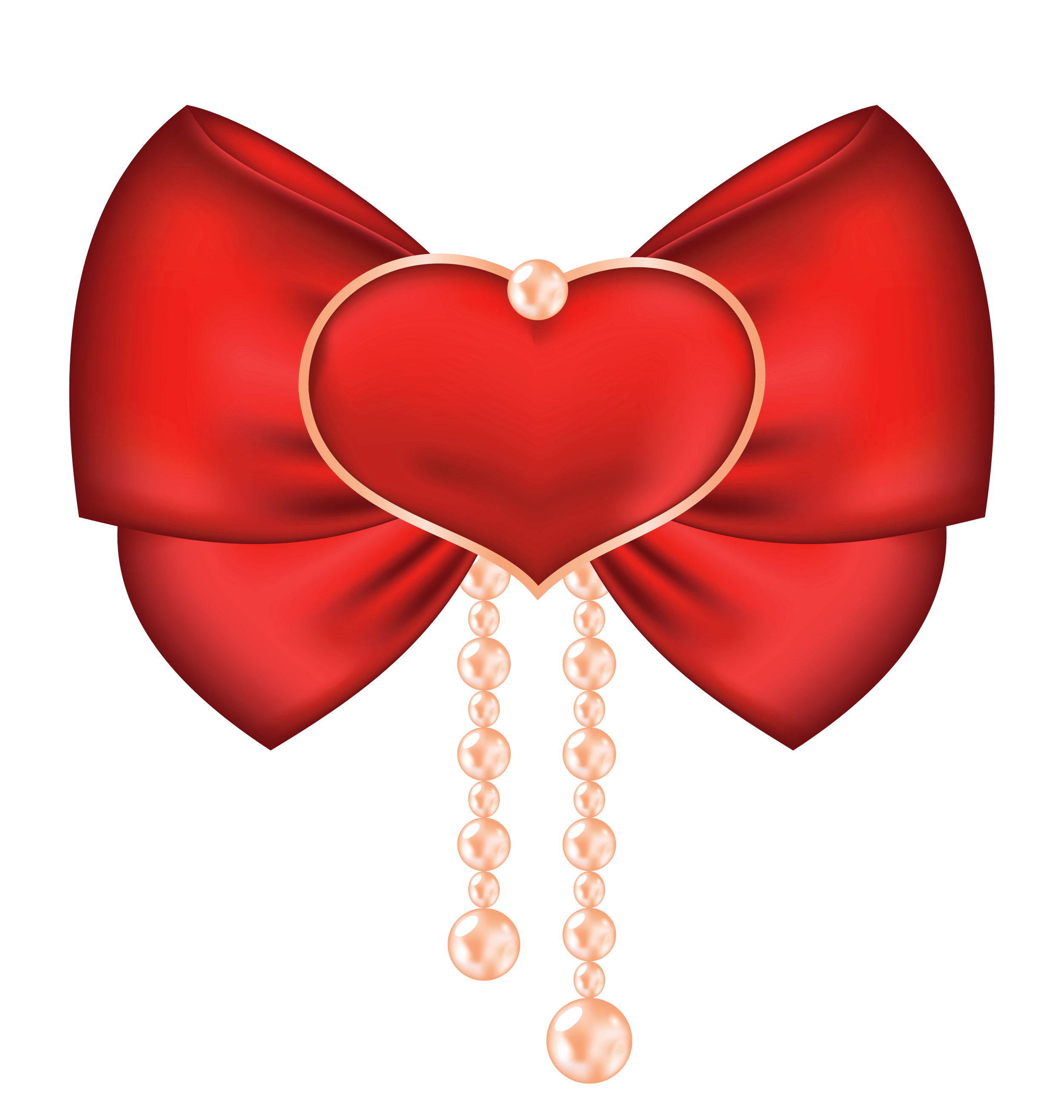 Heart ribbon clipart jpg free Red Bow with Heart PNG Clipart Picture | Gallery Yopriceville ... jpg free
