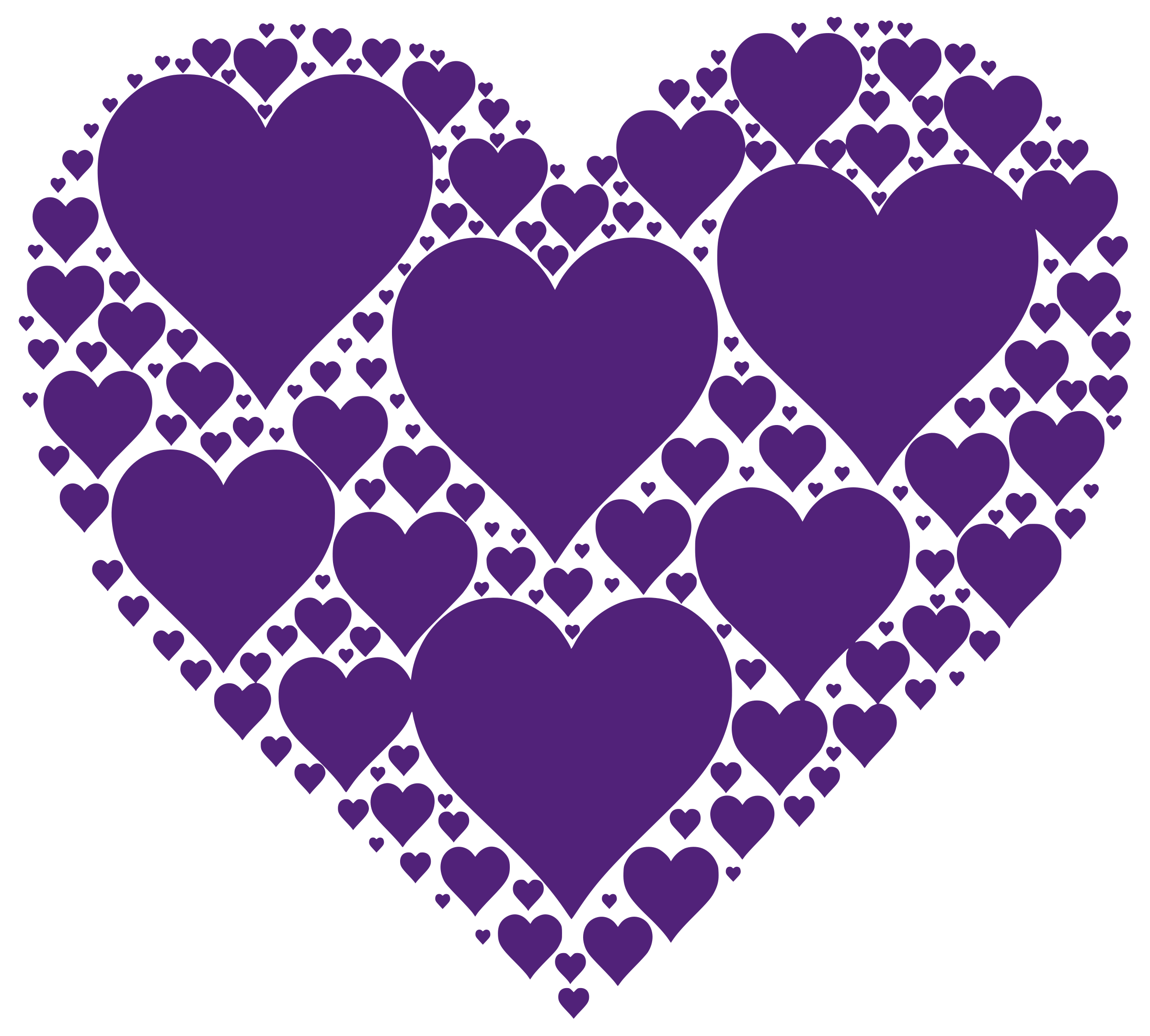 Heart purple clipart graphic royalty free download Clipart - Hearts In Heart - Purple graphic royalty free download