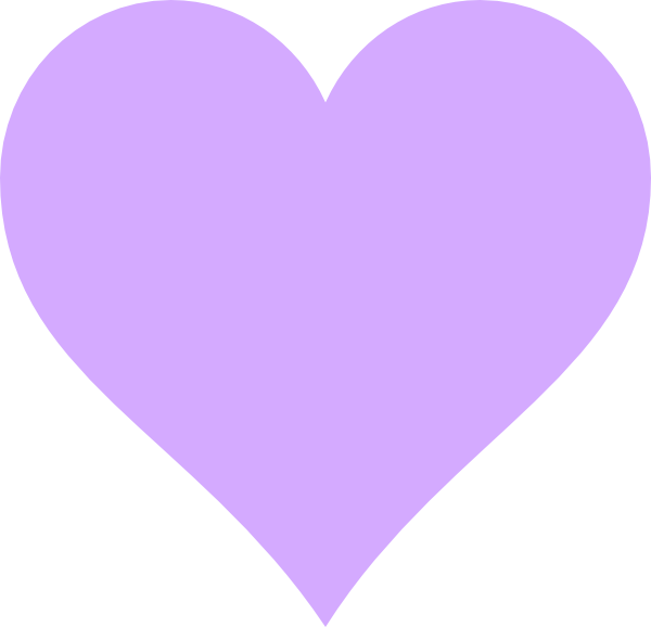 Heart purple clipart picture transparent download Light Purple Heart Clip Art at Clker.com - vector clip art online ... picture transparent download