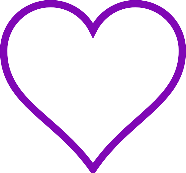 Interlocking heart clipart picture black and white download Purple Heart Outline Clip Art at Clker.com - vector clip art online ... picture black and white download