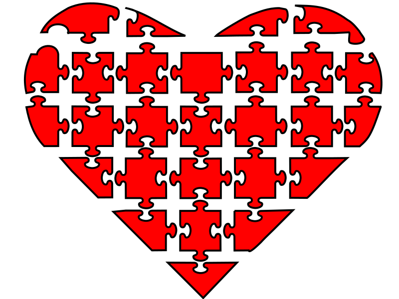 Puzzle heart clipart image royalty free Clipart - Corazon Rompecabezas image royalty free