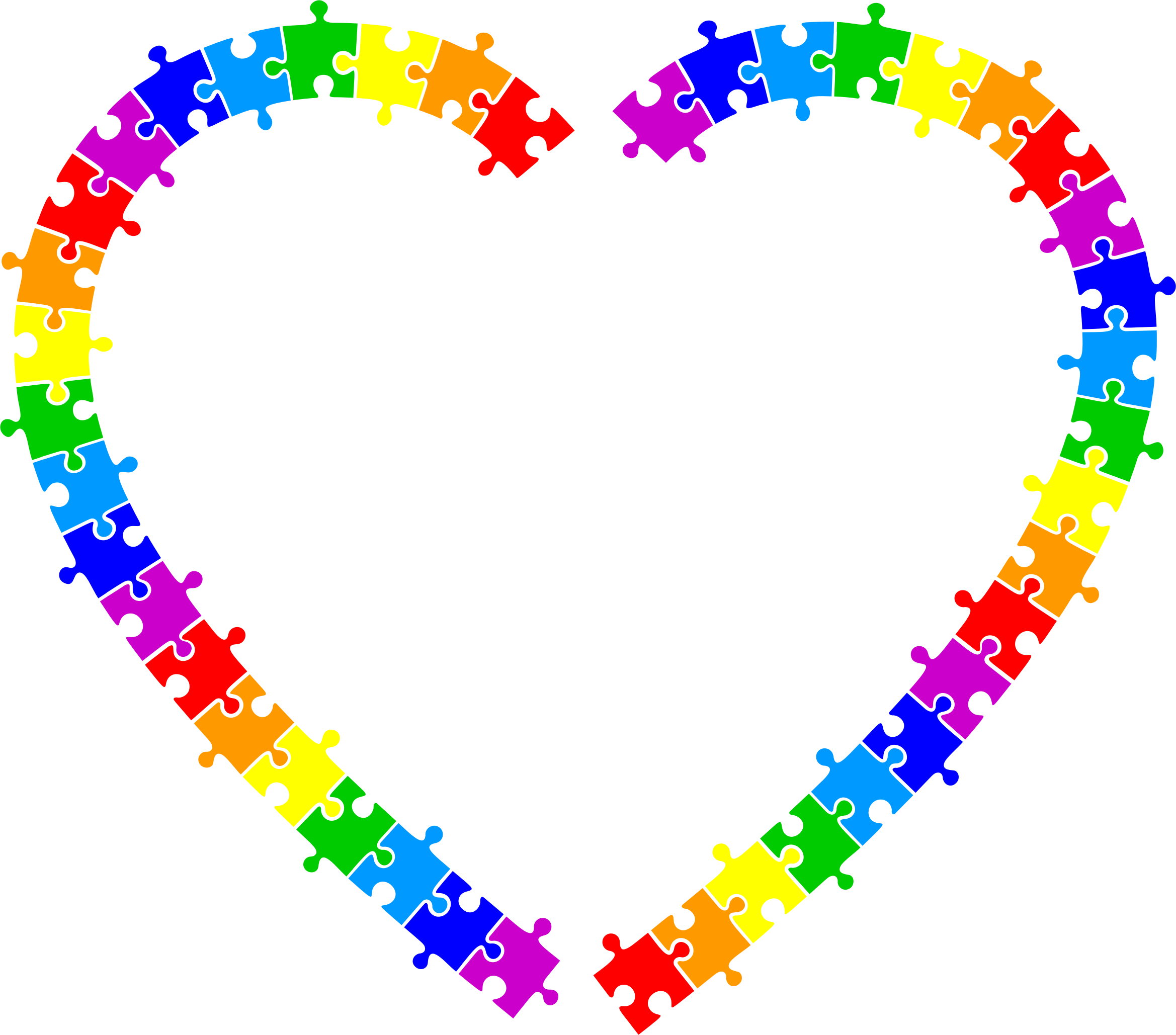 Heart puzzle clipart clipart library download Clipart - Puzzle Pieces Frame 3 clipart library download