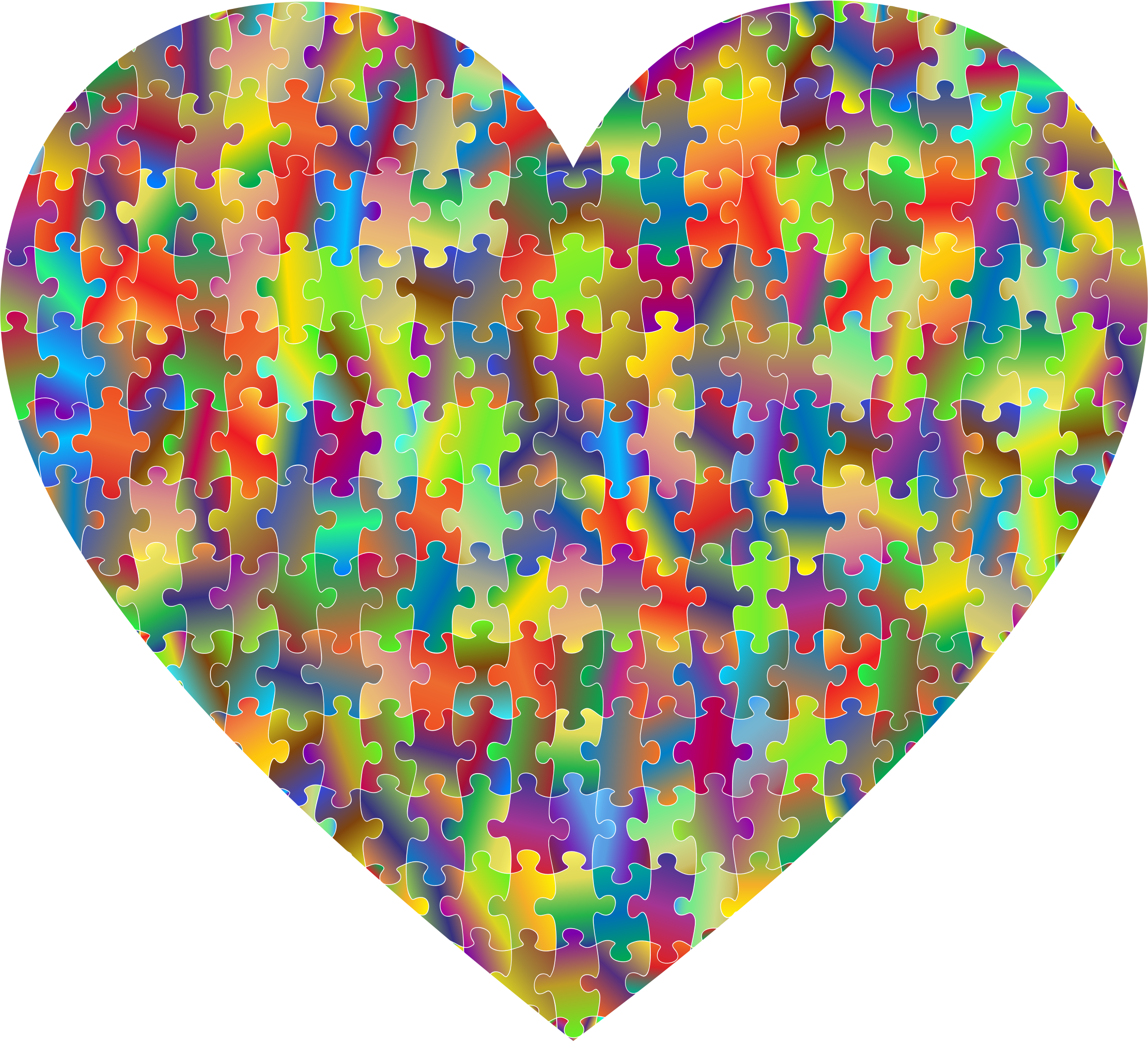 Heart puzzle clipart clip art library library Clipart - Colorful Puzzle Heart 7 clip art library library