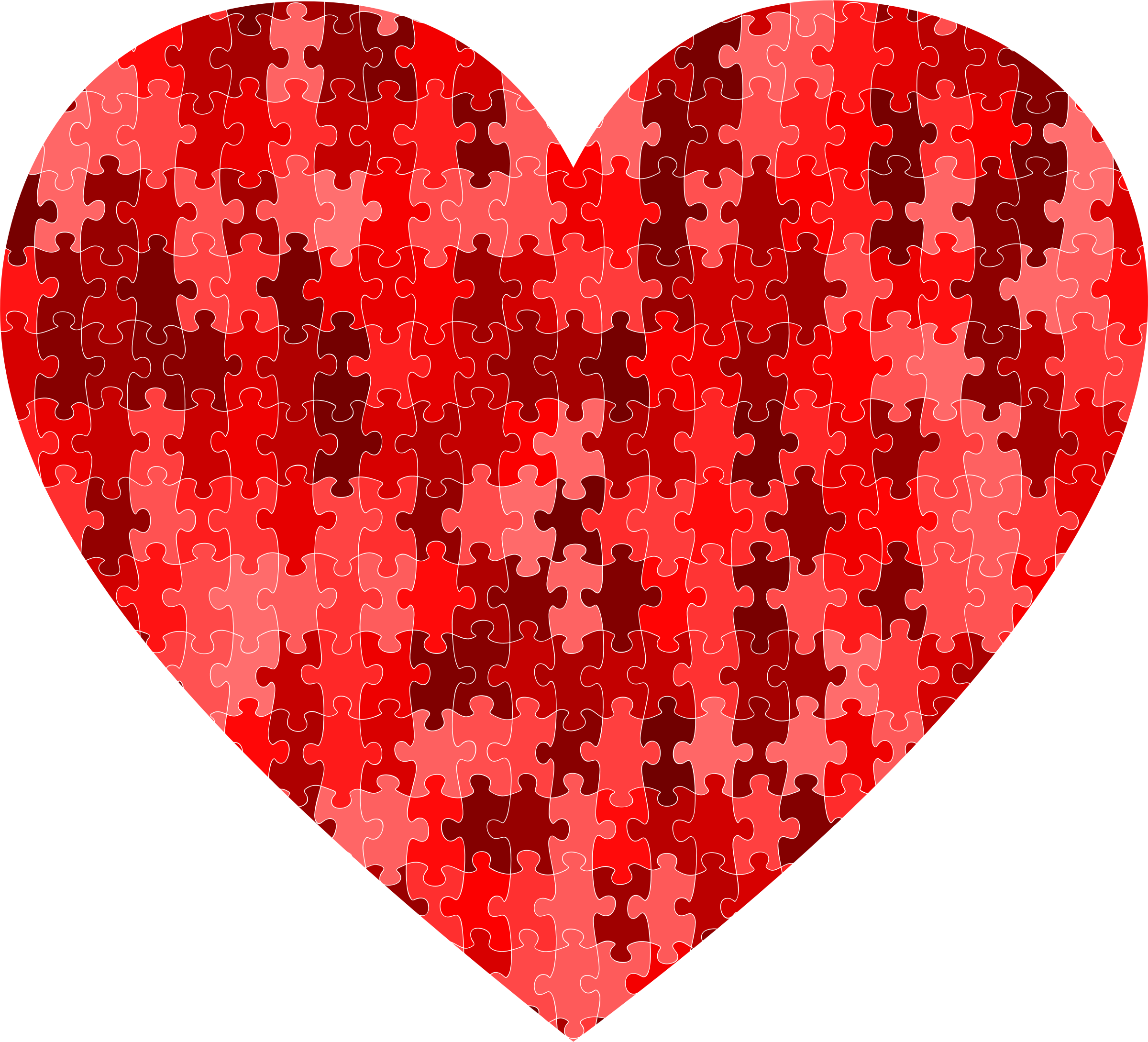 Heart puzzle clipart vector freeuse Clipart - Red puzzle heart vector freeuse