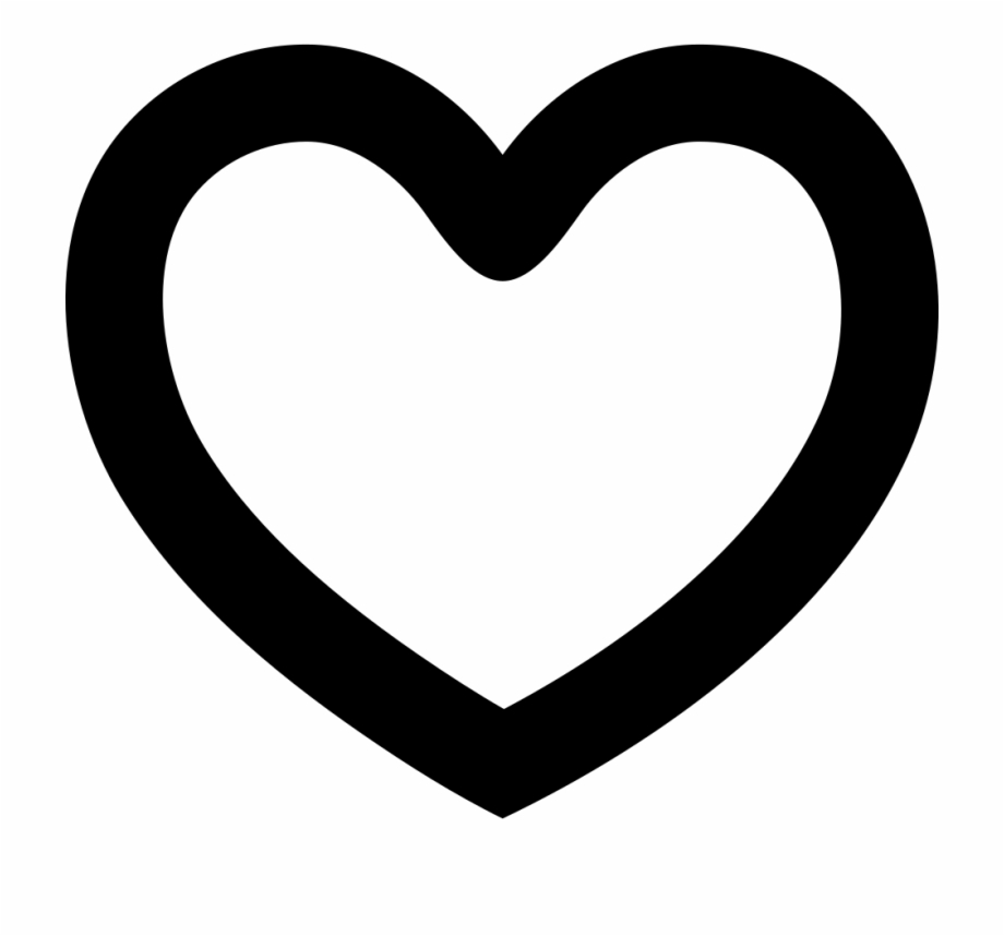 Heart shape icon clipart black and white library Shape Png Icon Free - Heart Shape Outline Free PNG Images ... black and white library
