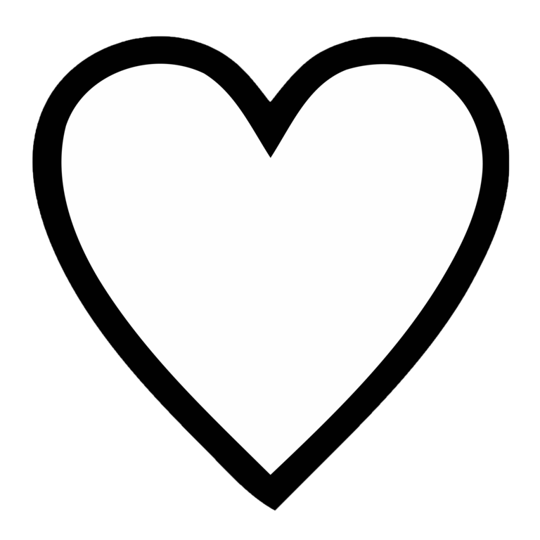 Heart shape icon clipart vector black and white download Heart Shape Clipart Black And White | Free download best ... vector black and white download