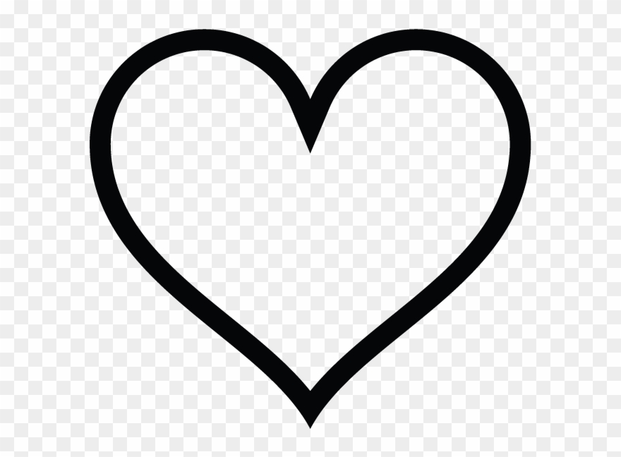 Heart shape icon clipart vector black and white download Heart-shaped Clipart Instagram - Heart Sign Icon Transparent ... vector black and white download